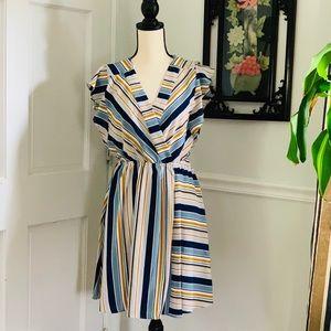 Monteau Dress stipe